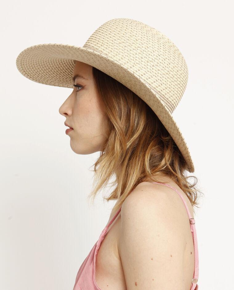 Cappello in paglia brillante beige