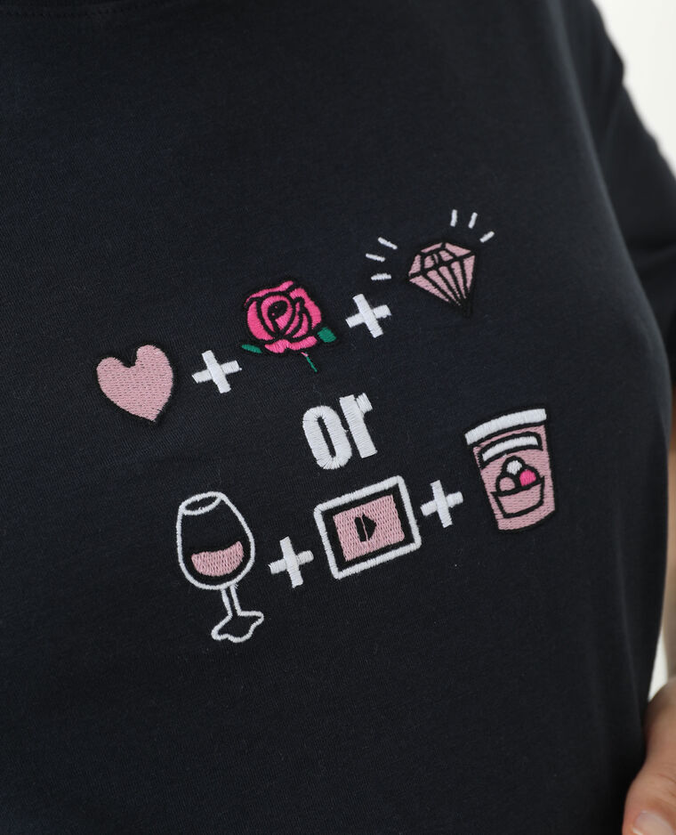 T-shirt a maniche corte nero