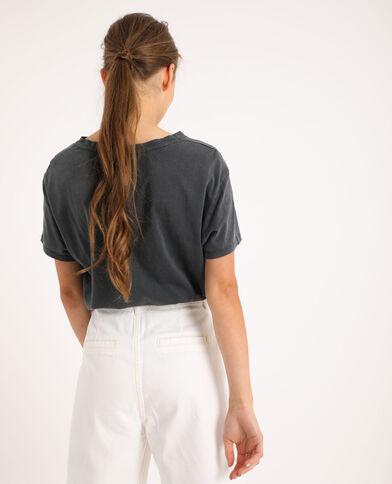 T-shirt stampata grigio antracite