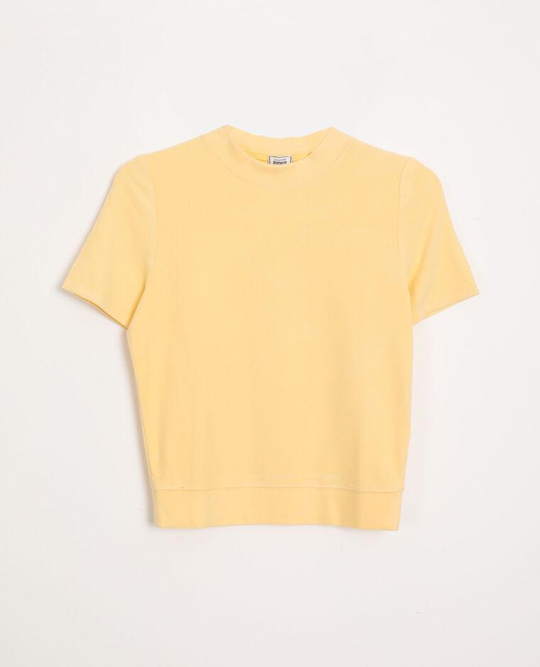T-shirt morbida giallo