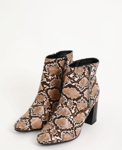 Boots con tacco beige corda