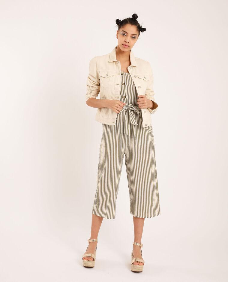 Giacca di jeans bianco sporco