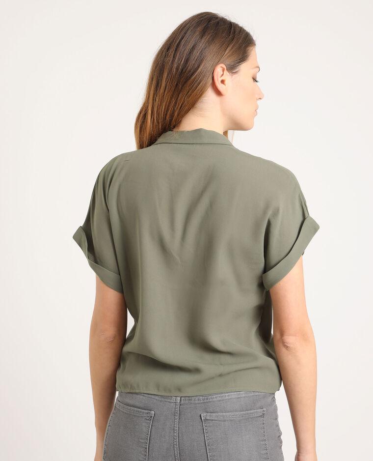 Camicia incrociata verde