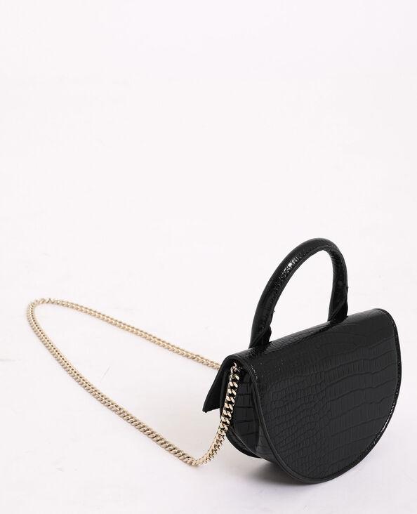 Mini borsa a mezzaluna nero