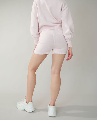 Short all'uncinetto rosa cipria - Pimkie