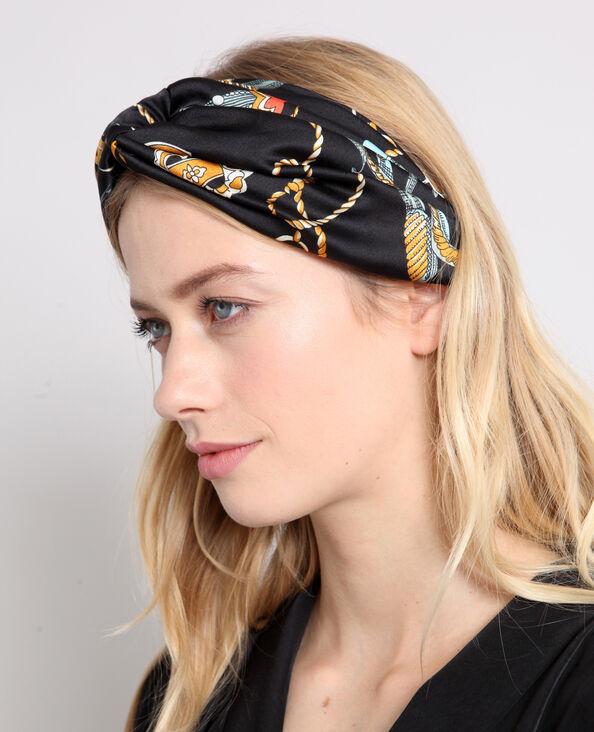 Headband satinata nero