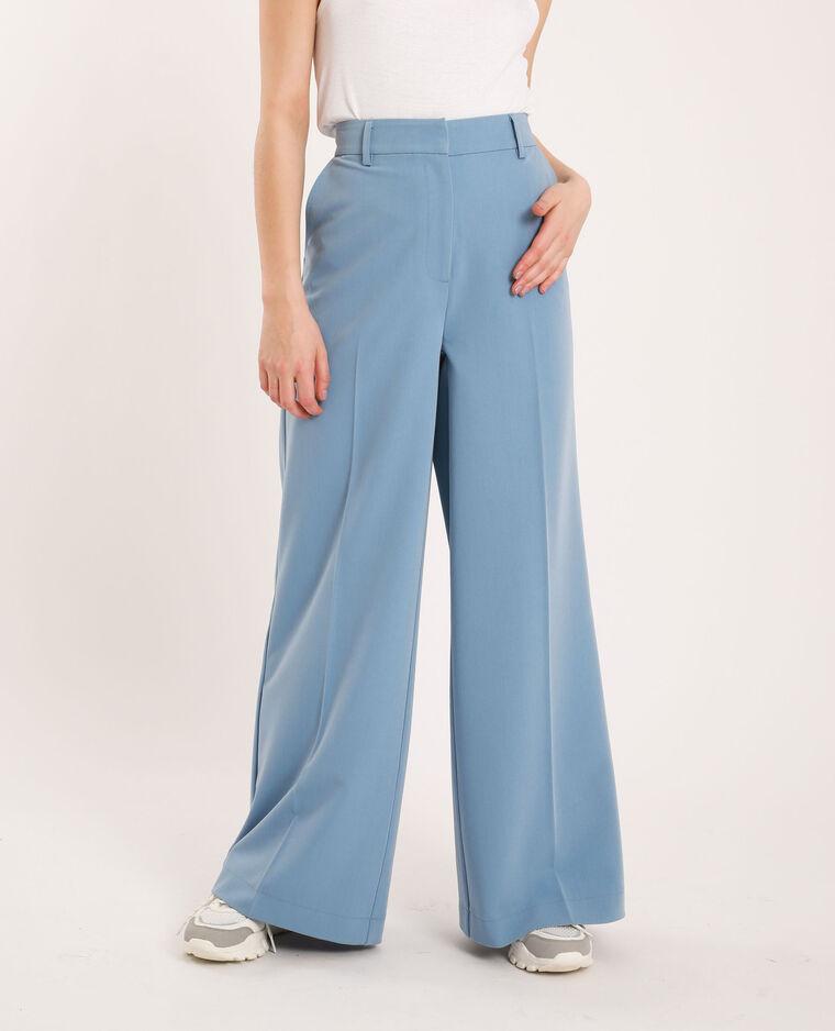 Pantalone a gamba larga blu cielo