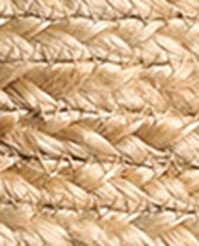 Borsa a tracolla in iuta beige corda