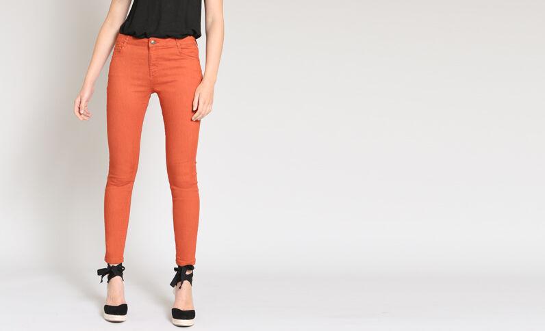 Skinny push up arancio