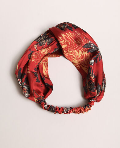 Headband stampata rosso