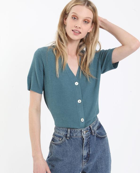 Cardigan maniche corte verde