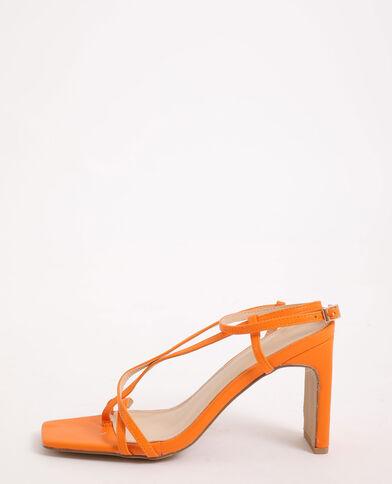 Sandali con tacco arancio