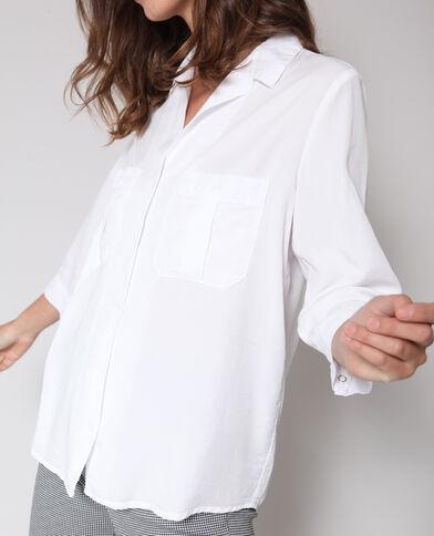 Camicia fluida oversize bianco sporco