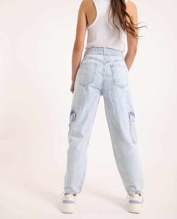 Jeans cargo blu chiaro