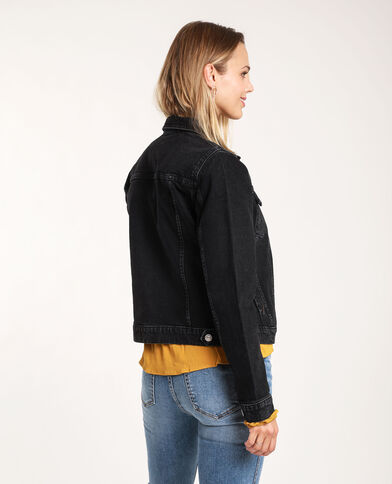 Giacca in jeans scuro nero