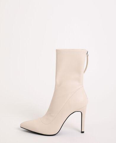 Stivali a punta bianco sporco