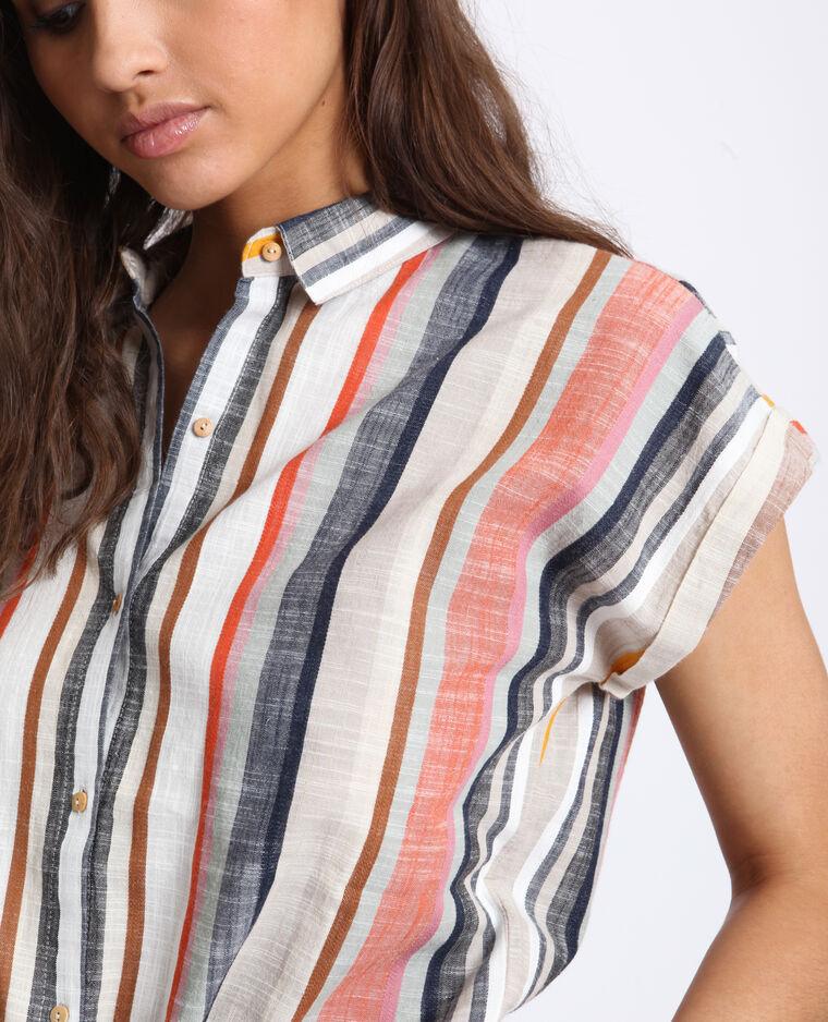 Camicia da annodare arancio