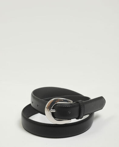 Cintura in similpelle nero - Pimkie