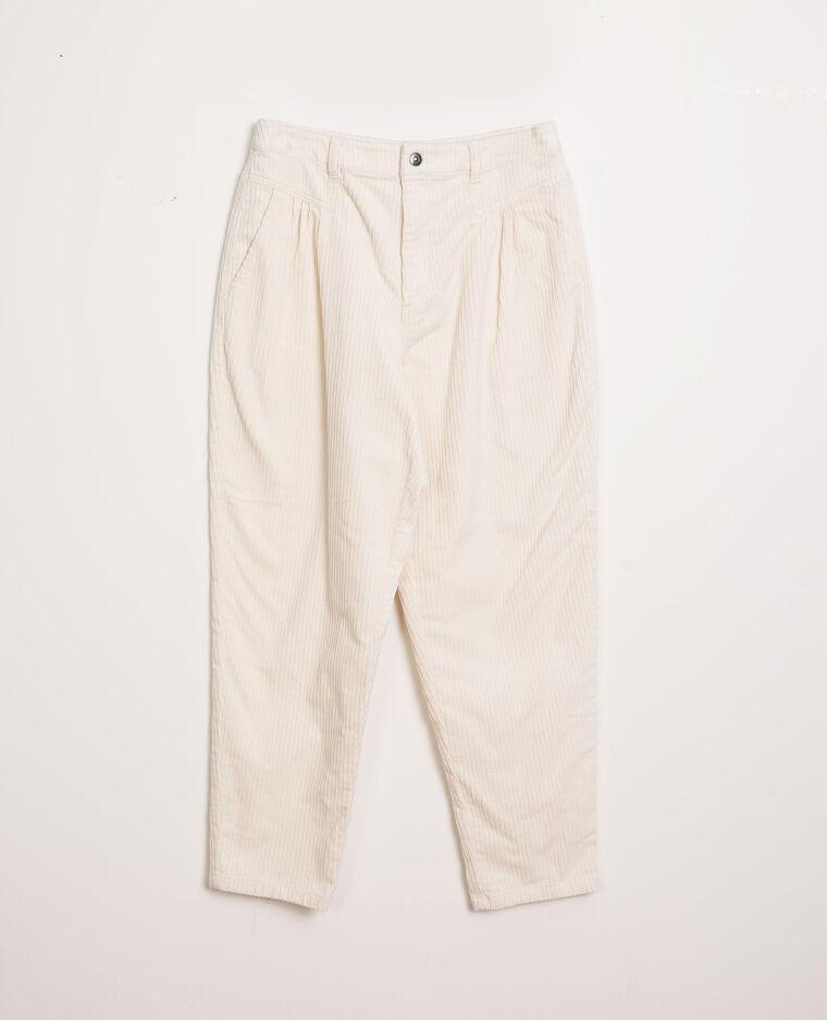 Pantalone in velluto bianco