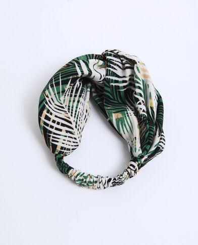 Headband tropicale verde