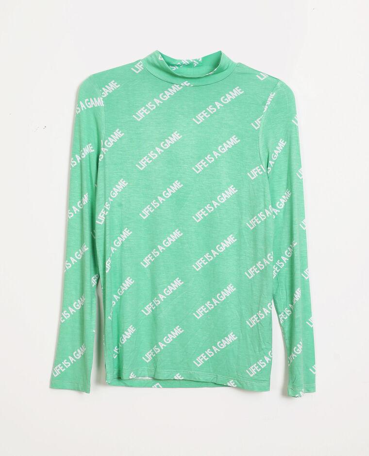 T-shirt a maniche lunghe verde - Pimkie