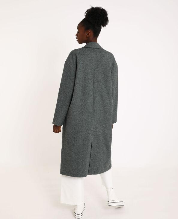 Cappotto lungo dritto grigio