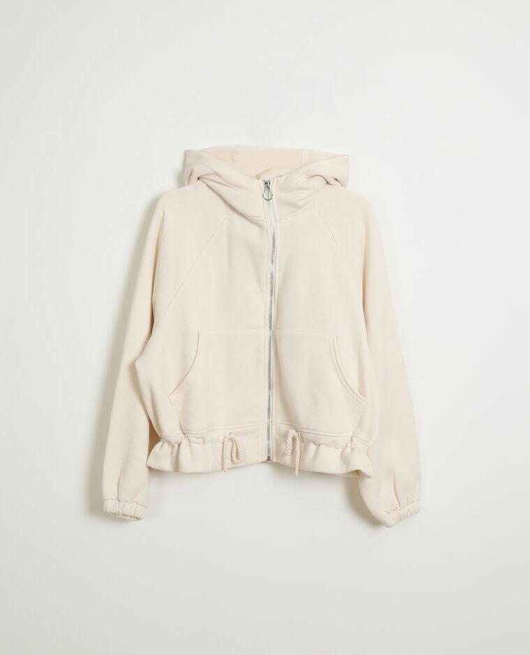 Giacca con cappuccio bianco sporco - Pimkie