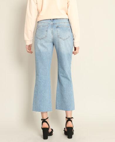 Gonna pantalone in jeans blu