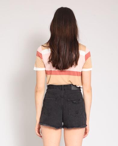 T-shirt maniche corte rosa cipria