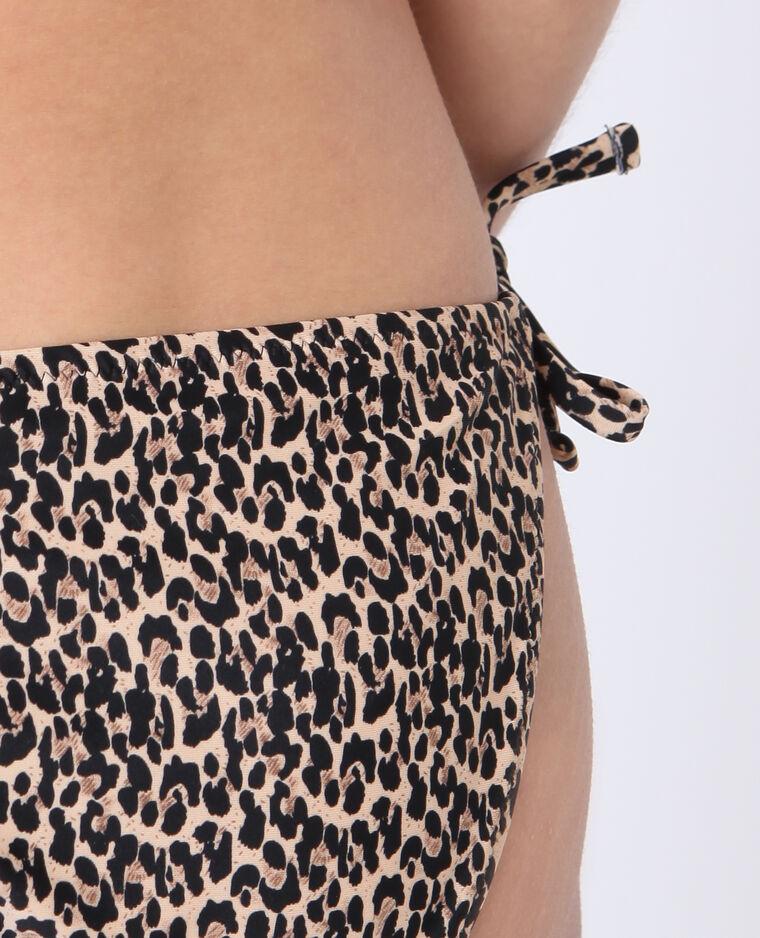 Pezzo sotto di bikini leopardato marrone