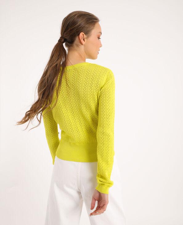 Cardigan maglia fantasia giallo