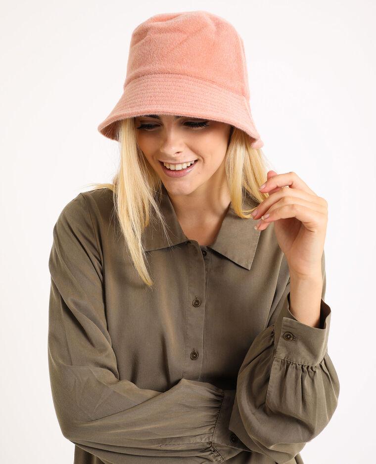 Cappello bob effetto pelliccia rosa cipria - Pimkie