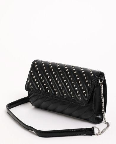Borsa pochette con borchie nero