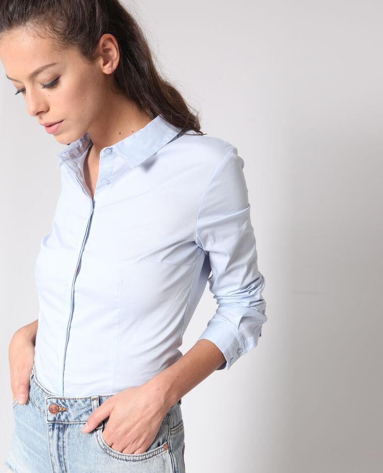 Camicia basic blu