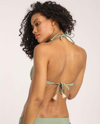 Pezzo sopra del bikini a fascia verde