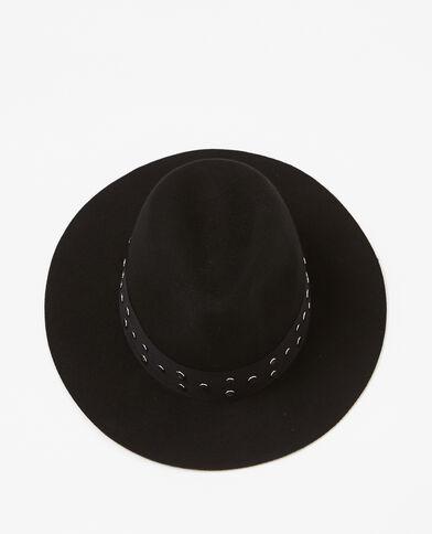 Fedora fascia con le borchie nero