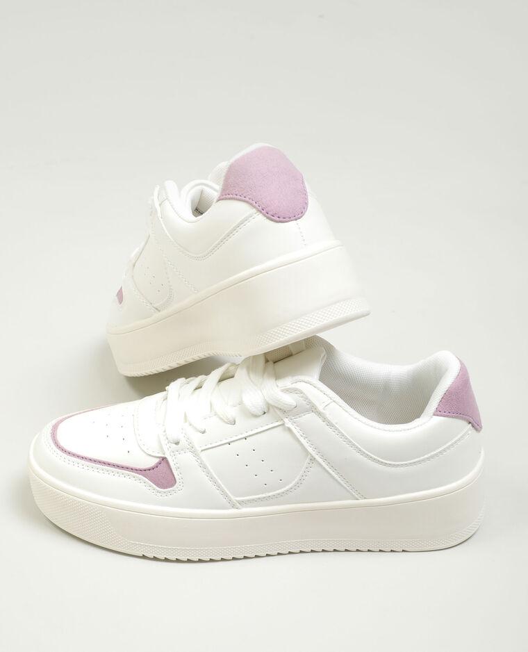 Scarpe da tennis con plateau bianco sporco - Pimkie