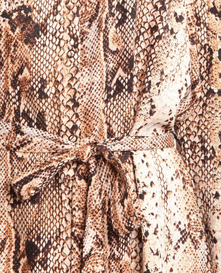Abito camicia pitone bruno