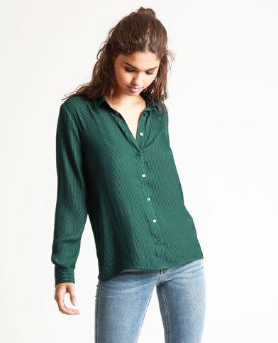 Camicia satinata verde