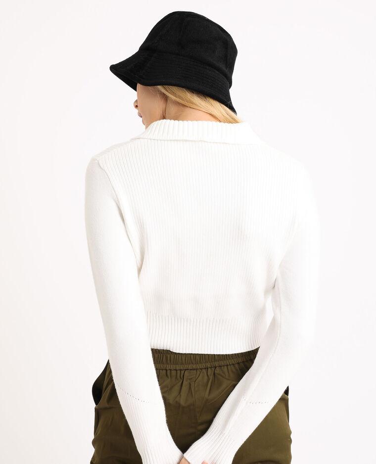 Cardigan con zip bianco sporco - Pimkie