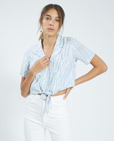 Camicia cropped viola - Pimkie