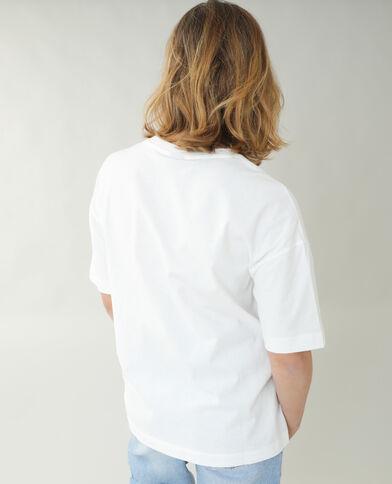 T-shirt ampia Minnie e Paperina bianco sporco