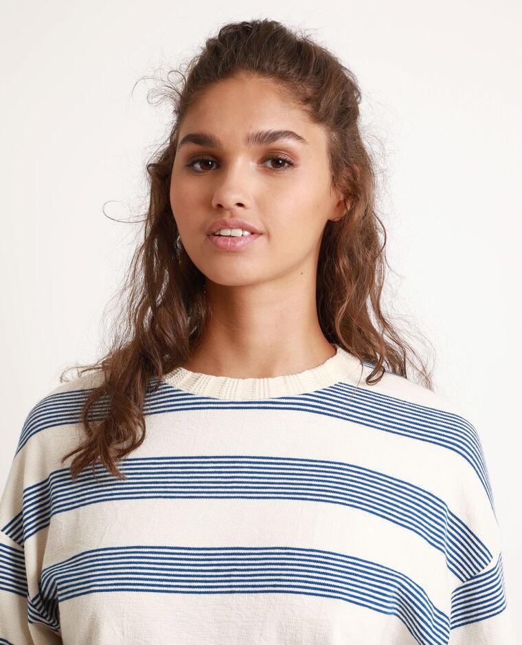 T-shirt a righe bianco sporco - Pimkie