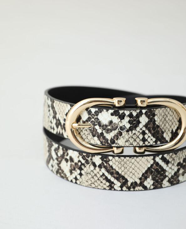 Cintura effetto pitone beige corda - Pimkie