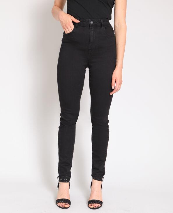 f90a81d1bce9 Jeans skinny a vita alta nero