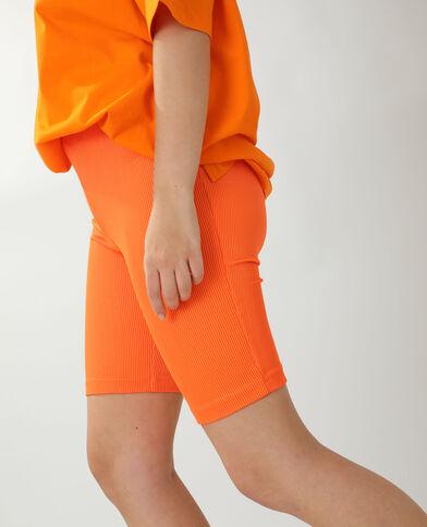Pantaloncini in stile ciclista arancio
