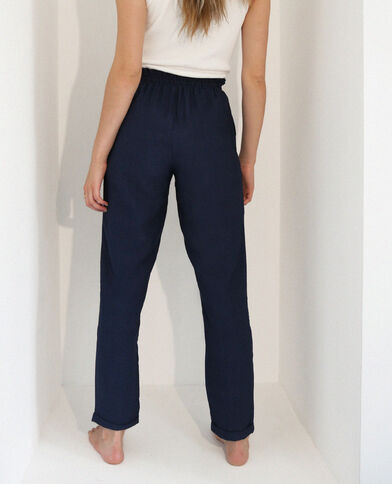 Pantalone morbido blu marino