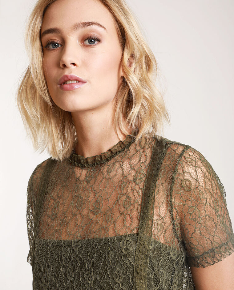 T-shirt in pizzo verde