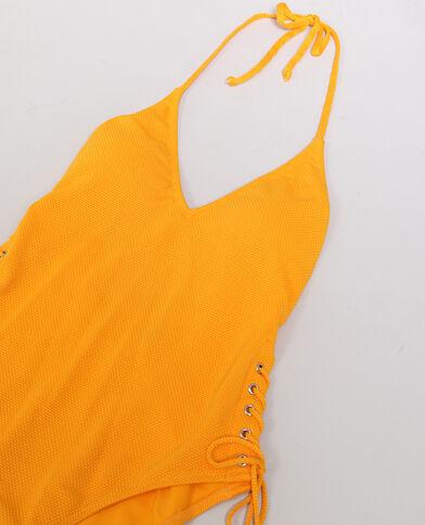 Costume intero schiena scoperta arancio