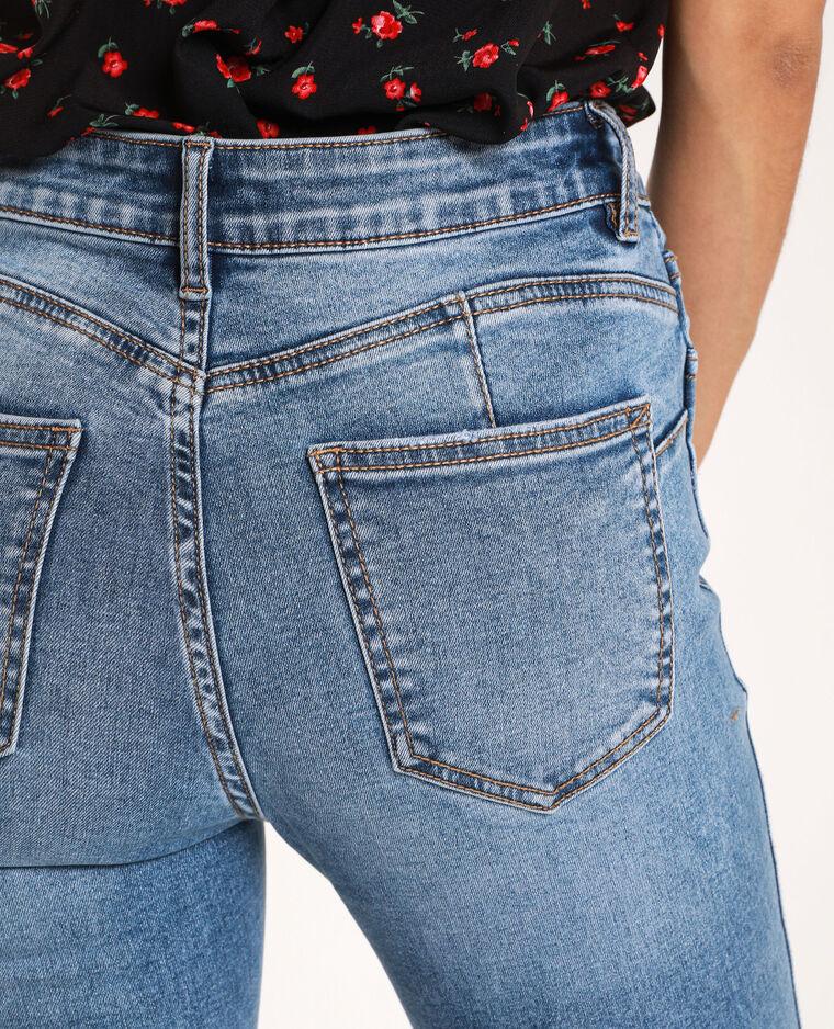 Jeans push up mid waist blu denim - Pimkie